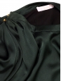 Robe manches ballon en satin de soie vert sapin Px boutique 1900€ Taille 40