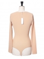 Body LEROY manches longues en jersey stretch beige nude NEUF Px boutique 160€ Taille XS