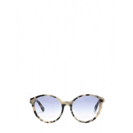 Cat-eye black and beige tortoiseshell havana acetate sunglasses Retail price €250