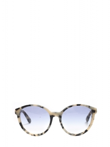 Cat-eye black and beige tortoiseshell havana acetate sunglasses Retail price €250