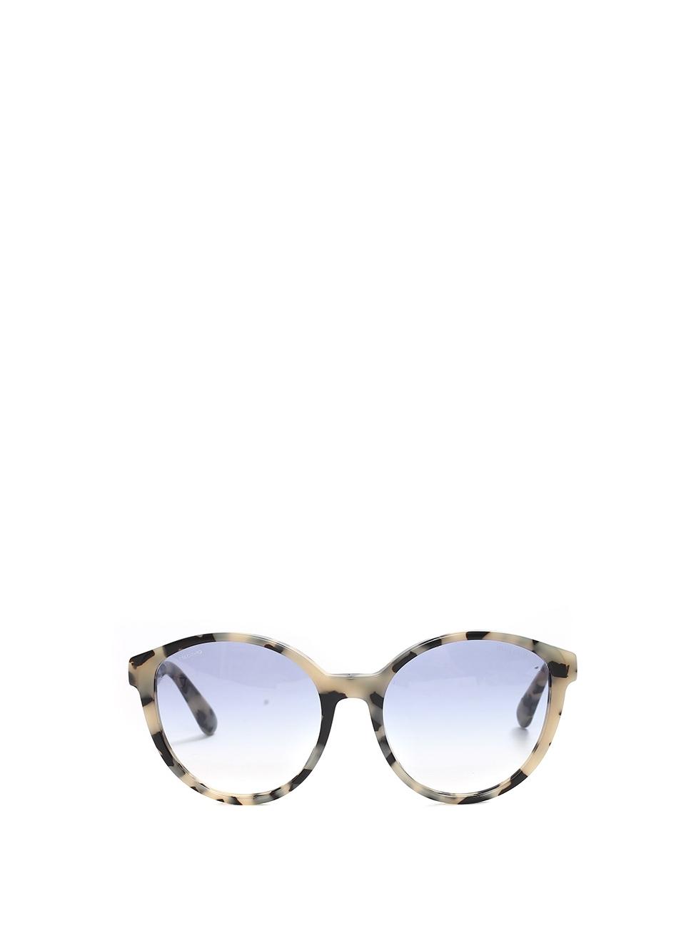 261ff8716f Lunettes de soleil œil-de-chat monture acétate écailles noir et beige verre  dégradé