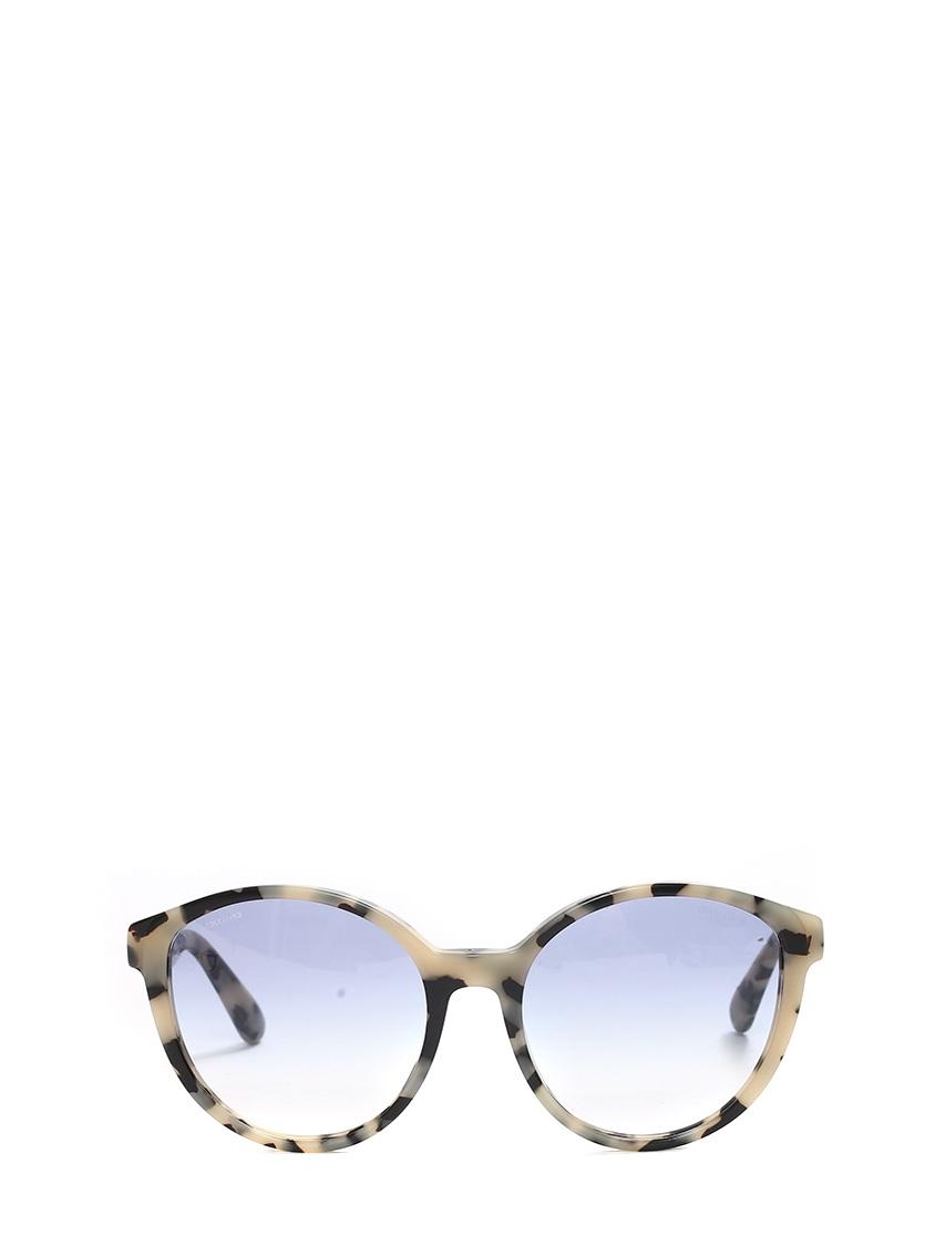 Lunettes de soleil œil-de-chat monture acétate écailles noir et beige verre  dégradé ... a3a4840596f1