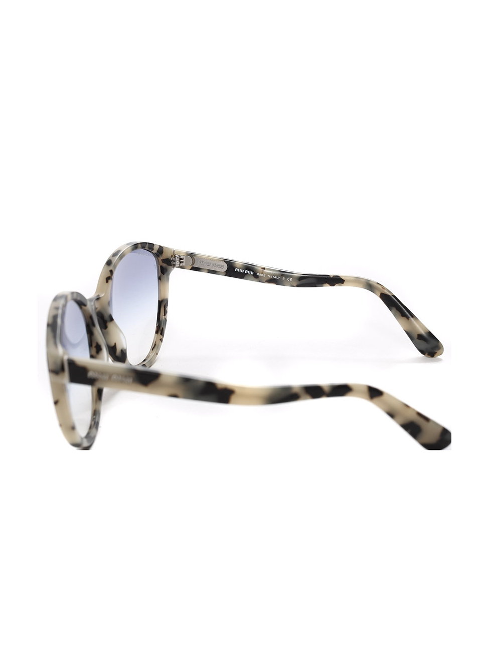2be450a56998 Louise Paris - MIU MIU Cat-eye black and beige tortoiseshell havana acetate  sunglasses Retail price €250