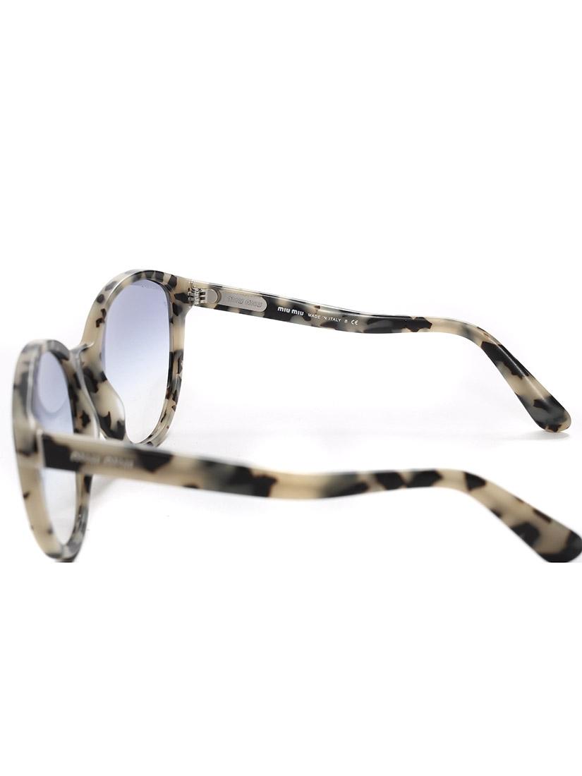 360a77b0af9 Miu Miu Black And White Acetate Cat Eye Sunglasses