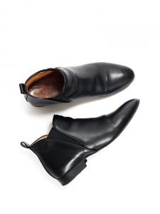 Bottines plates Chelsea PIPER hauteur cheville en cuir noir Px boutique 500€ Taille 39