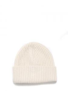Bonnet doux en maille de cachemire blanc ivoire Px boutique 120€ Taille unique