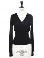 Pull corset col V en laine fine noire Prix boutique 450€ Taille 34/36