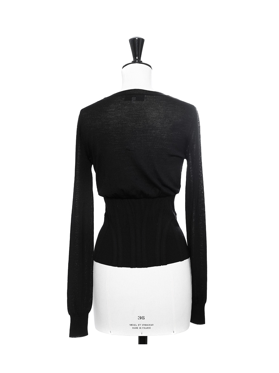 f4d48bfcbe4 Louise Paris - YVES SAINT LAURENT Black fine wool corset-like ...