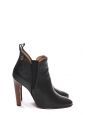 Chelsea PIPER black leather high heel ankle boots Retail price $850 Size 37.5