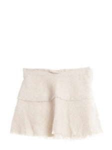 Diva cream white cotton tweed mini skirt Retail price €195 Size 36