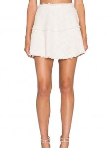 Jupe Diva en tweed de coton blanc ivoire Px boutique 195€ Taille 36