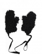 MM6 Black wool-blend bouclé oversized gloves mittens NEW Retail price €200