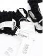 Moufles MM6 gants oversize en laine noire effet bouclé NEUVES Px boutique 200€
