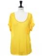 T-shirt ultra fin et doux jaune mimosa Px boutique 90€ Taille 38