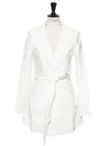 White vinyl-like raincoat Retail price €800 Size 36