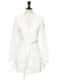 Manteau trench imperméable effet vinyl blanc Px boutique 800€ Taille 36