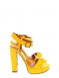 Bright yellow patent heel sandals Retail price €720 Size 37