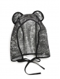 LARA black lace rain hood hat with bear ears Retail price €300