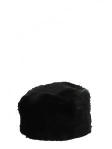Black fur toque hat Size S
