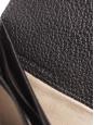Portefeuille long ELSIE en cuir grainé noir et fermoir doré Px boutique 380€