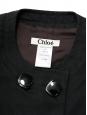 Top sans manches à boutons en lin noir Px boutique 900€ Taille