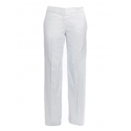 Light blue and white striped cotton pants Retail price €650 NEW Size 36/38