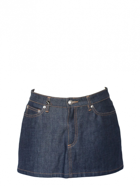 Dark blue denim mini skirt Retail price €140 Size 36