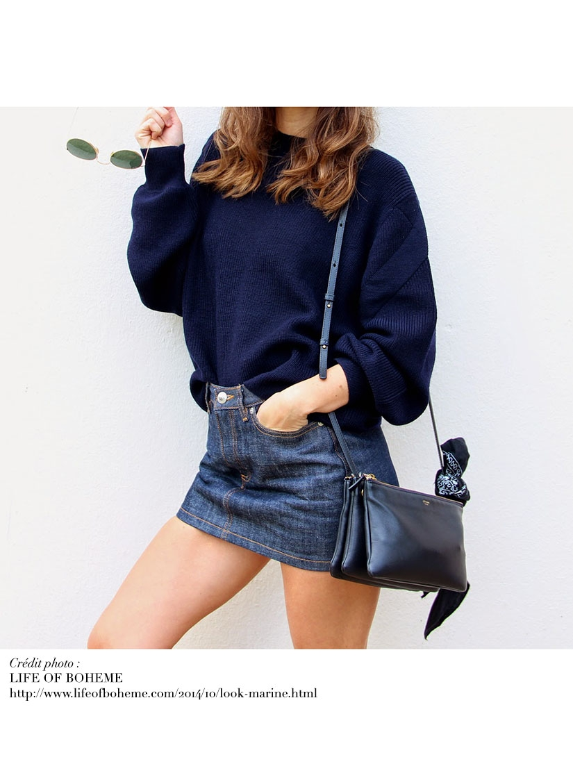 Louise Paris - APC Dark blue denim mini skirt Retail price €140 ...