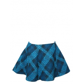 Green and blue tweed flared skirt NEW Retail price €420 Size 38