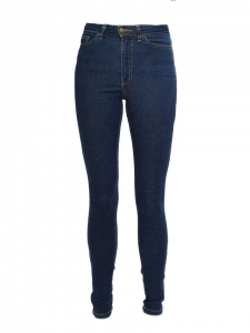 Jean PENCIL skinny slim fit en coton stretch bleu Taille 34