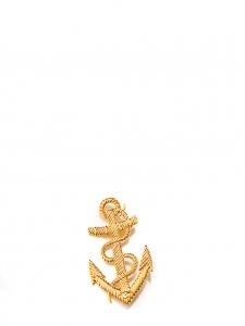 Broche ancre marine en métal doré Taille unique
