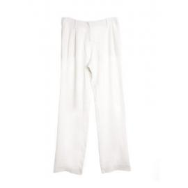 Pantalon droit en crêpe blanc ivoire Prix boutique 850€ Taille 38