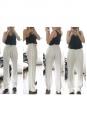 Pantalon droit en crêpe blanc ivoire Px boutique 850€ Taille 38