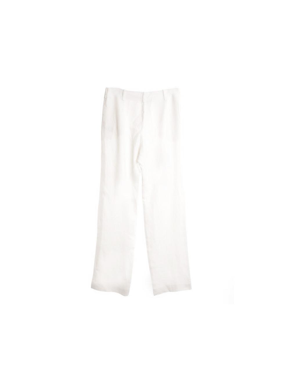 Pantalon Blanc Lanvin Crêpe Louise En Ivoire Paris Droit Px 8wOn0Pk