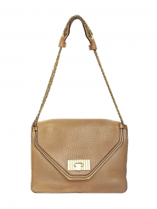 Sac SALLY en cuir grainé beige camel Px boutique 1500€