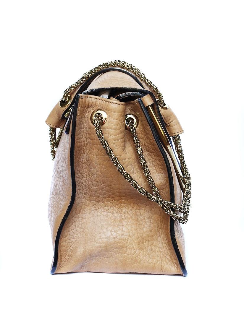 louise paris chloe sac sally en cuir grain beige camel prix boutique 1500. Black Bedroom Furniture Sets. Home Design Ideas