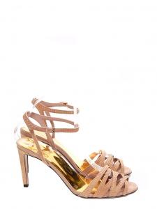 908ce7676a12 GUCCI · Sandales à talon en suède beige rosé et studs dorés NEUVES Px  boutique 550€ Taille ...