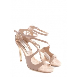 Nude faux leather heeled sandals NEW Retail price €660 Size 37.5