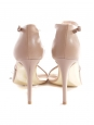 Sandales à talon stiletto et lanières beige rosé nude NEUVES Px boutique 660€ Taille 37,5