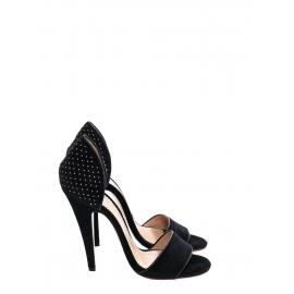 Black velvet studded high heels NEW Retail price €450 Size 40
