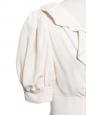Robe décolletée manches courtes en crêpe de soie blanc ivoire Px boutique 1200€ Taille