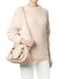 Sac à bandoulière PARATY Mini en cuir grainé rose pâle Px boutique 1450€
