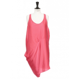 MAGENTA Fuchsia pink racer back dress Retail price €240 Size 36/38