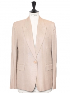 Sand beige twill blazer jacket Retail price €1055 Size 40