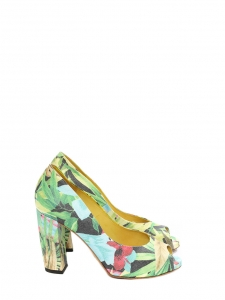 Multicolored floral printed pepp-toe heeled sandals Retail price €400 Size 36,5