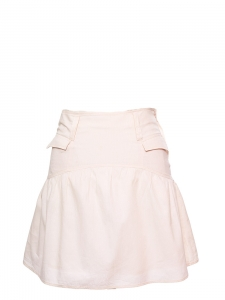 Pale pink cotton piqué A-line skirt Retail price €135 Size 36