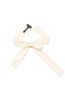 Ecru white bow ribbon belt NEW Retail price €200 Size 36