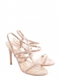Nude beige suede heeled sandals Retail price €260 Size 37