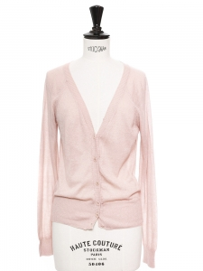 Pink cotton long sleeved cardigan Retail price €160 Size 36