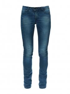Washed dark blue cotton denim slim fit jeans Retail price €200 Size XS